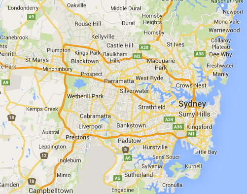 Areas We Cover In Sydney